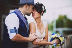 Original stylish wedding Stock Photo