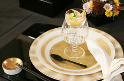 Original Table setting. For gourmet Stock Images
