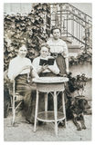 original- tappningfoto mogna kvinnor för stående tre Gammal pict Arkivbilder