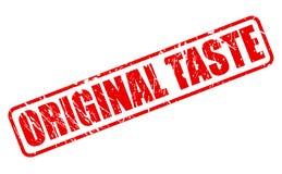 ORIGINAL TASTE red stamp text Stock Image