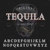 Original Tequila Label Font Poster Royalty Free Stock Photography