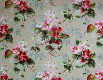 Original textile fabric ornament of the Modern style. Crock is hand-painted with gouache. Beginning of the XX century: Original textile fabric ornament of the stock photos
