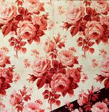 Original textile fabric ornament of the rose. Crock is hand-painted with gouache. Beginning of the XX century: Original textile fabric ornament of the Modern Royalty Free Stock Photo