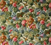 Original textile fabric ornament of the tapestry. Crock is hand-painted with gouache. Royalty Free Stock Images