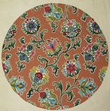 Original textile fabric ornament of the tapestry. Stock Photography