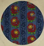 Original textile fabric ornament of the tapestry. Royalty Free Stock Photo