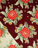 Original textile pattern of dahlias in a modern style. Sketch vintage hand painted gouache. Beginning of the XX century: Original textile fabric ornament of the stock illustration