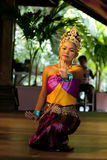 Original Thai dance by beautiful lady onstage. Royalty Free Stock Photo