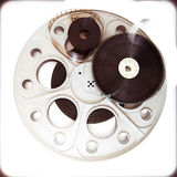 Original theater movie cinema 35mm reel with film reels Stock Image