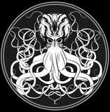 Original three-eyed octopus stock illustration