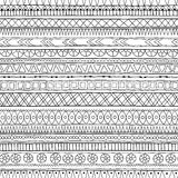 Original tribal doddle ethnic pattern. Royalty Free Stock Images