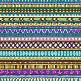 Original tribal doddle ethnic seamless pattern. Stock Photos