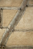 Original timber wall with oak beams, straw and clay Stock Image