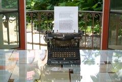 Original typewriter at Hermann Hesse museum in Montagnola Royalty Free Stock Photo