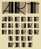 Original unique contemporary alphabet design Royalty Free Stock Images