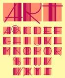 Original unique contemporary alphabet design Stock Image