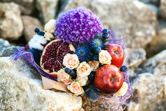 The original unusual edible bouquet of fruits Royalty Free Stock Images