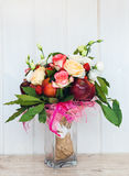 The original unusual edible bouquet of fruits Stock Image