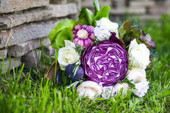 The original unusual edible bouquet of vegetables Royalty Free Stock Photography