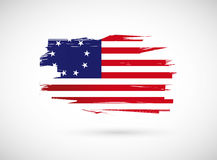 original usa us ink flag illustration design Royalty Free Stock Photos