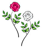 Original Vector Floral Ornament. This is a vector image - you can simply edit colors and shapes Stock Images