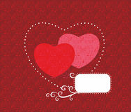 Original vector illustration with hearts. Stock Photos