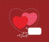Original vector illustration with hearts. Stock Photos