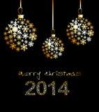 Original Vector New Year 2014 card Royalty Free Stock Photography
