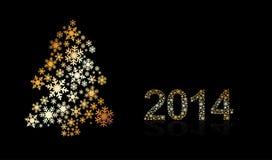 Original Vector New Year 2014 card Royalty Free Stock Photos