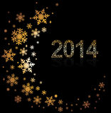 Original Vector New Year 2014 card Stock Images