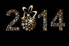 Original Vector New Year 2014 card Royalty Free Stock Photo