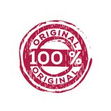 100% original vector rubber stamp. Label design ready made template Vector Illustration