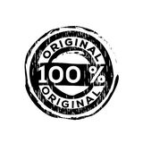 100% original vector rubber stamp. Label design ready made template royalty free illustration
