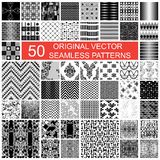 50 original vector seamless pattern Royalty Free Stock Photo