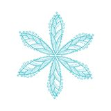 Original vector snowflake, lace Royalty Free Stock Images