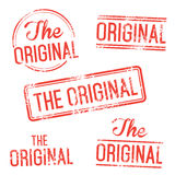 The Original Vector Stamp Set. THE ORIGINAL Set of  stamp. Elements isolated and colors Royalty Free Stock Photos