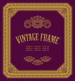 Original vintage frame Stock Images