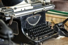 Original vintage typewriter used in 1940`s in Central Europe Stock Photography