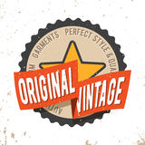 Original vintage round seal stamp. T-shirt print design. Original vintage round seal stamp. Printing and badge applique label t-shirts, jeans, casual wear Royalty Free Stock Photos