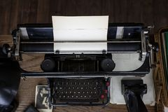 Original vintage typewriter used in 1940`s in Central Europe Royalty Free Stock Photo