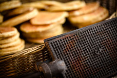 Original waffle iron Royalty Free Stock Photos