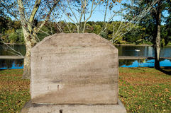 Original- Washington Crossing Monument Arkivbild
