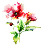 Original watercolor illustration Royalty Free Stock Photos