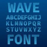 Original Wave Font Poster Stock Photo