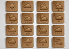Original weather icons Stock Photography
