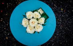Original wedding table flowers Stock Photos