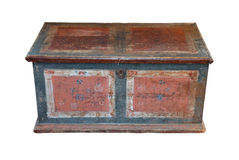 Original wooden chest from the 18th century Stock Photography