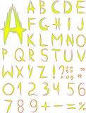 Original yellow font Royalty Free Stock Images