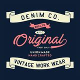 Originale di Brooklyn del denim Fotografia Stock Libera da Diritti