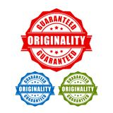 Originality guaranteed label. Originality guaranteed vector labels set Stock Photo